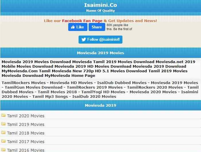 Isaimini 2020 Movies – Tamil New Movie Download