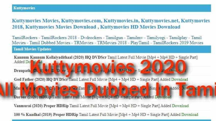 Kuttymovies 2020 – Tamil HD Movies Download